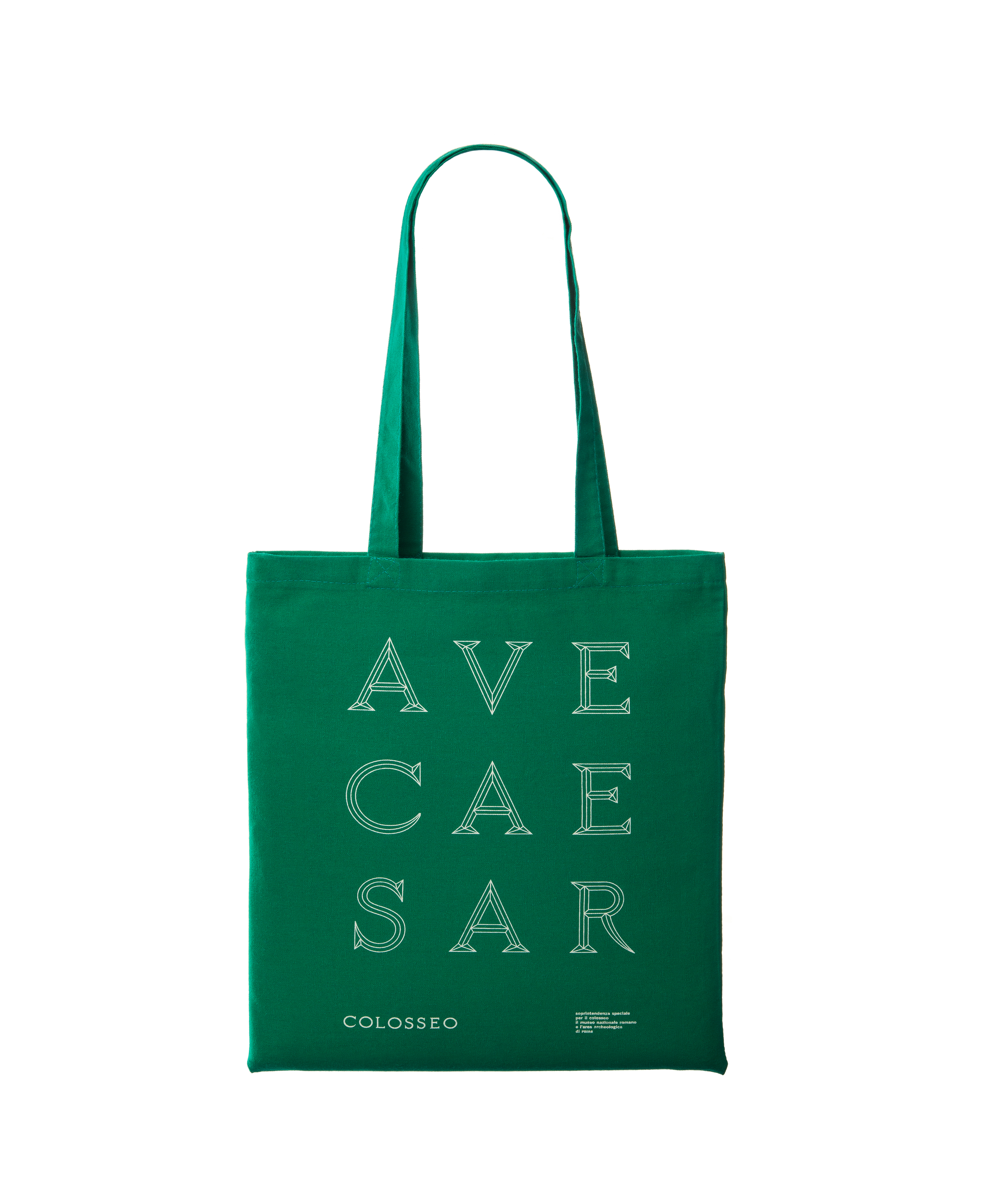 "shopper verde ""ave caesar"" serie colosseo"