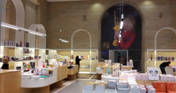 The bookshop of Triennale di Milano