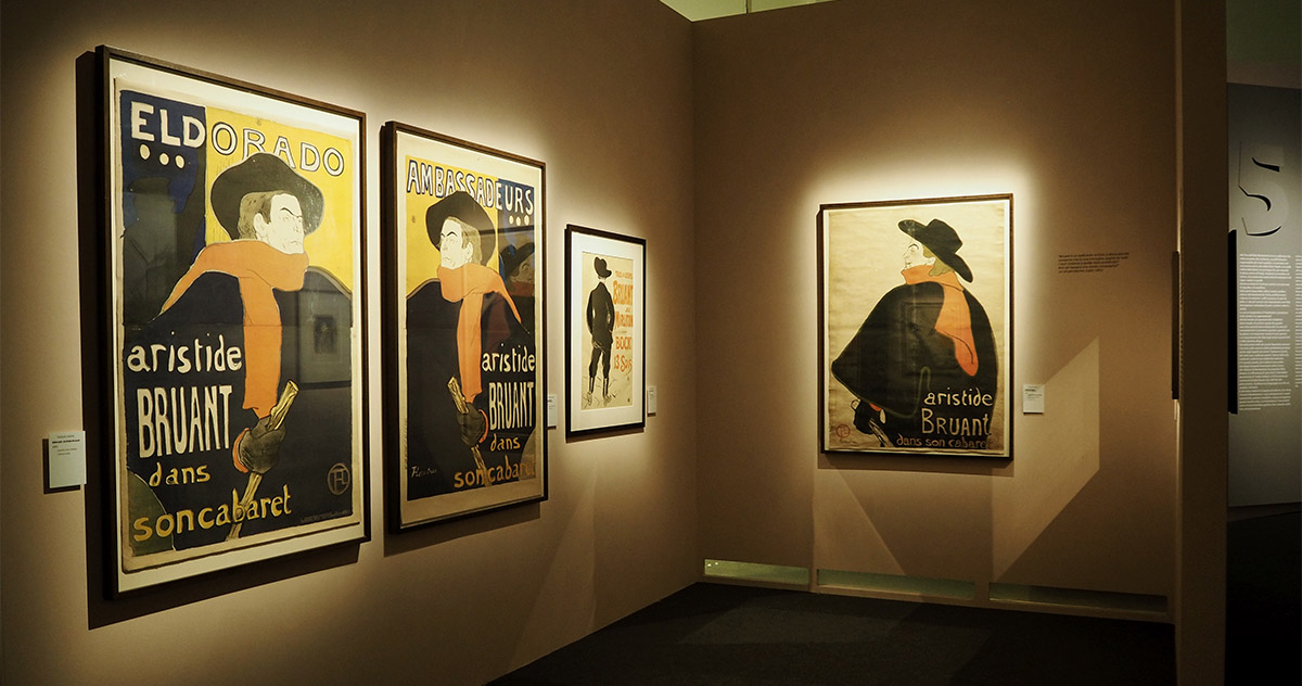 Il mondo fuggevole di Toulouse-Lautrec, works on display, © Stefano Bonomelli