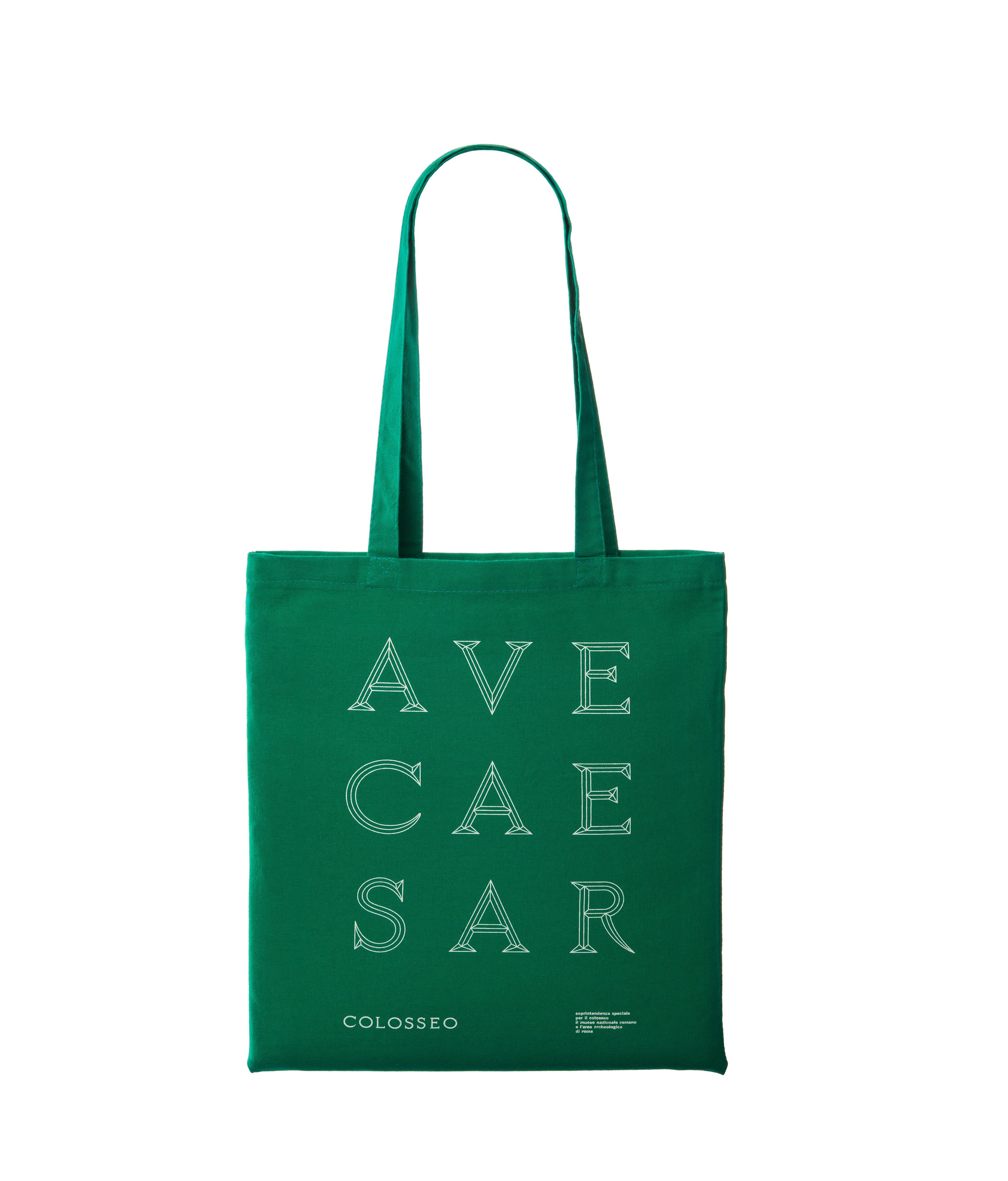 """shopper verde """"ave caesar"""" serie colosseo"""