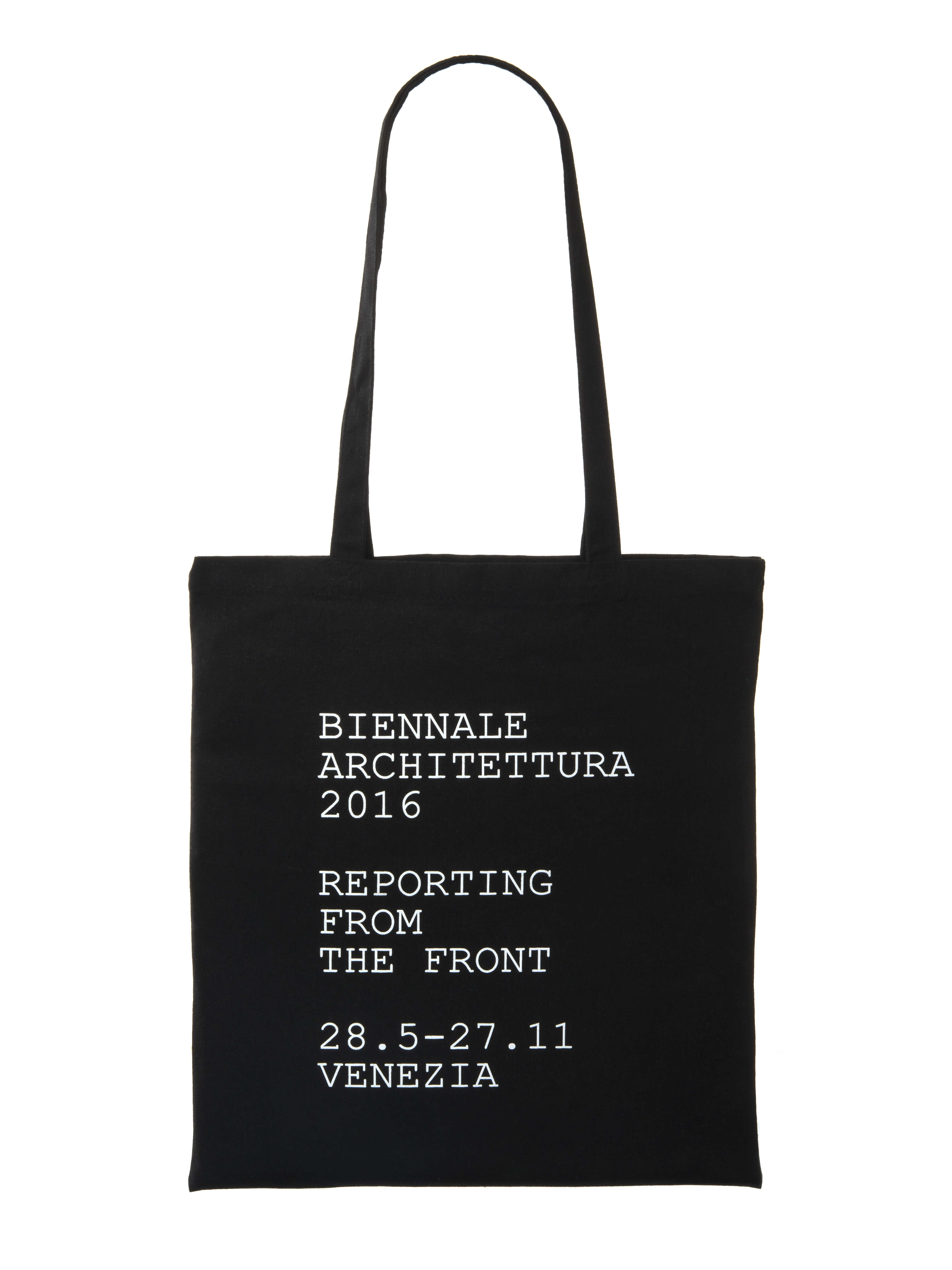 SHOPPING BAG BLACK REPORTING FROM THE FRONT