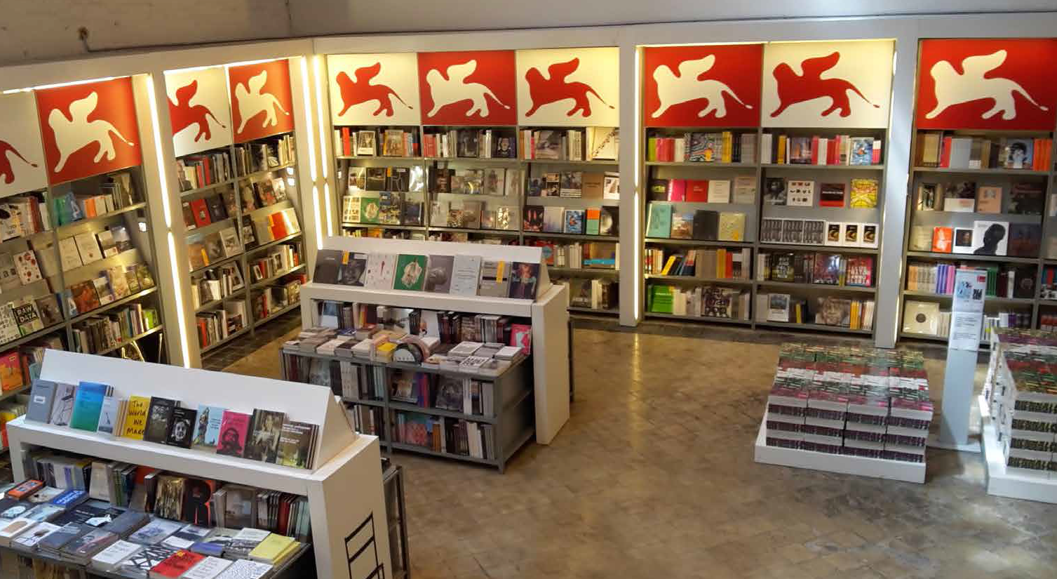 The bookshop of Biennale di Venezia