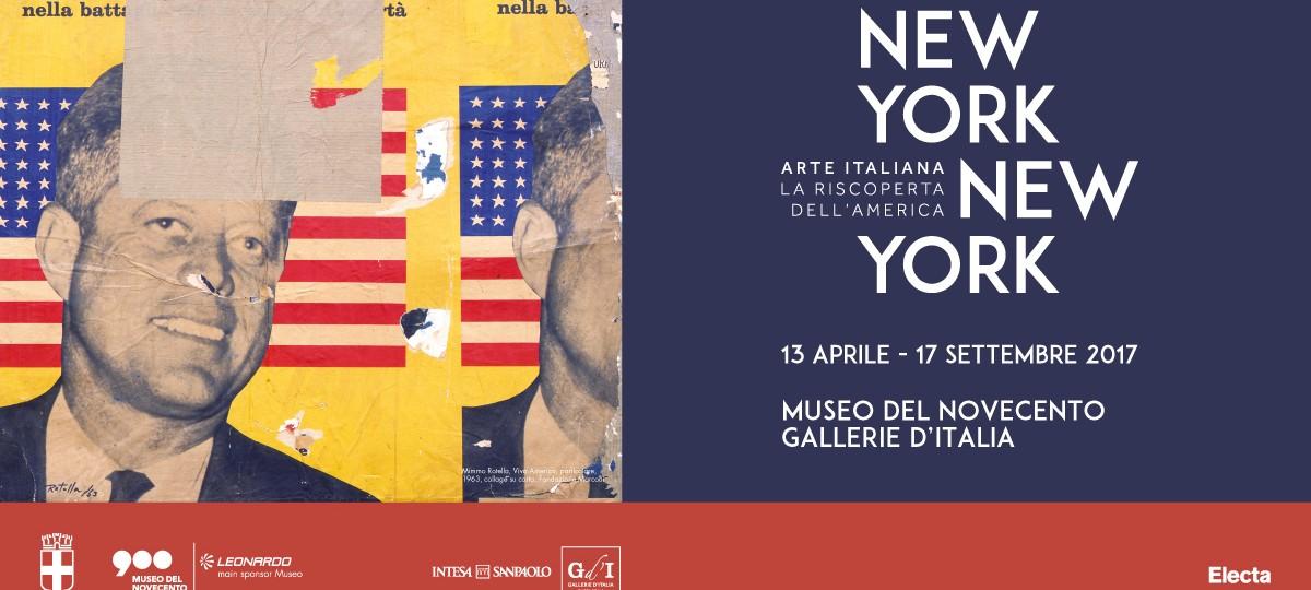 Mimmo Rotella, Viva America, 1963, collage su carta, 85 x 89 cm, Fondazione Marconi.