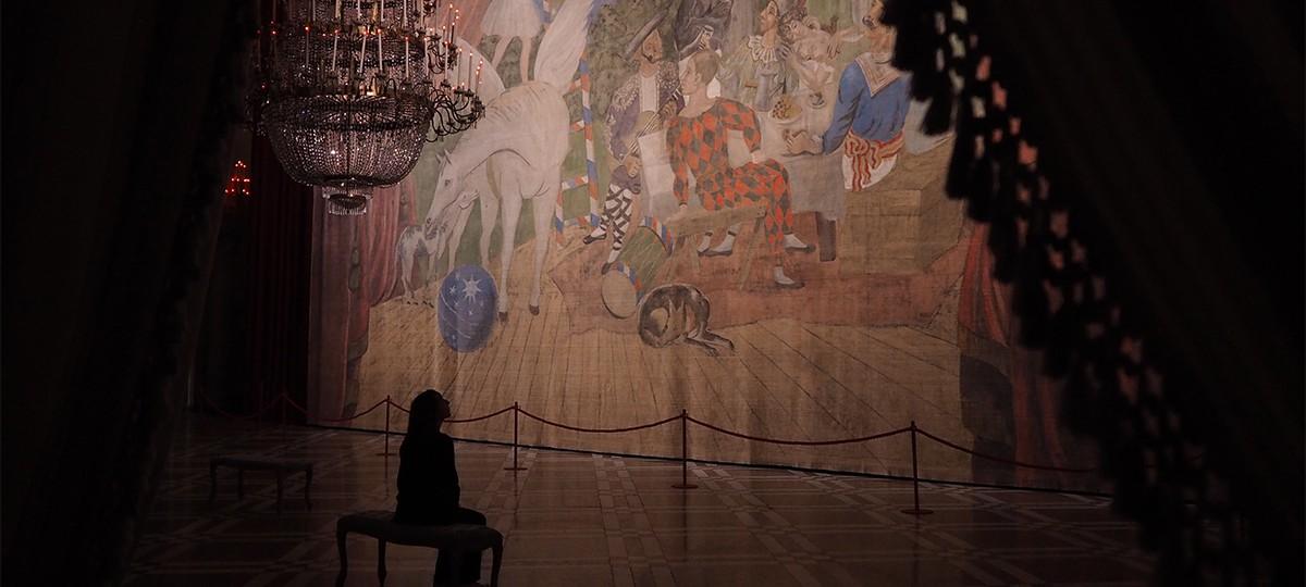 Dettaglio di Pablo Picassso, Sipario del balletto Parade, 1917, © Centre Pompidou, MNAM-CCI, Dist. RMN-Grand Palais / Christian Bahier / Philippe Migeat, © Succession Picasso by SIAE 2017