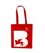 "shopper rossa linea ""Leone"" serie la Biennale di Venezia"