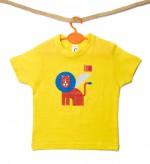 """t-shirt M giallo """"Leone arancio"""" linea kids serie la Biennale di Venezia"""