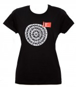 "t-shirt donna M nero linea ""Mandala"" serie la Biennale di Venezia"