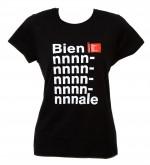"t-shirt donna M nero linea ""Biennnnnale"" serie la Biennale di Venezia"