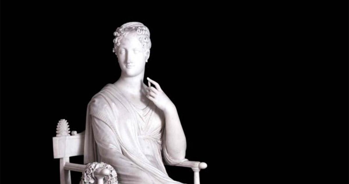 Antonio Canova, <em>La musa Polimnia</em>, 1812-1817. Marmo, cm 169 x 115 x 170. Vienn, Hofburg.