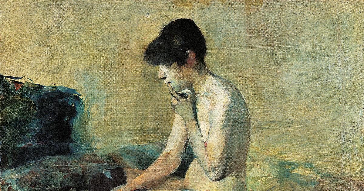Henri de Toulouse-Lautrec, <em>Etude de nu. Femme assise sur un divan</em>, 1882, Olio su tela, Musée Toulouse-Lautrec, Albi, France