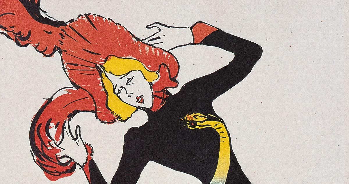 Henri de Toulouse-Lautrec, <em>Jane Avril</em> 1899, Litografia a colori, Bnf, Parigi