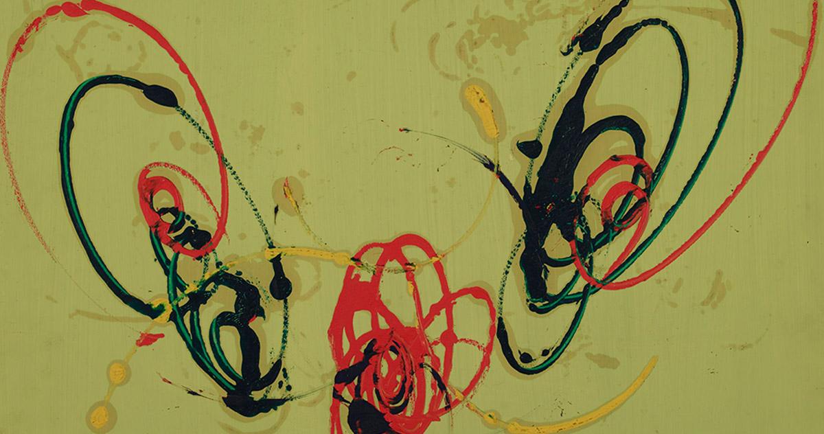 Detail by Roberto Crippa, <em>Composizione</em>, 1954, tempera on card, 65 x 48 cm Museo del Novecento – Collezione Boschi Di Stefano, Milan. Photo Luca Postini
