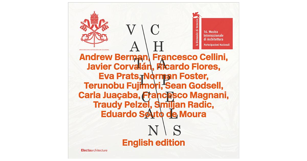 Sopraccoperta della copertina del catalogo inglese edito da Electa