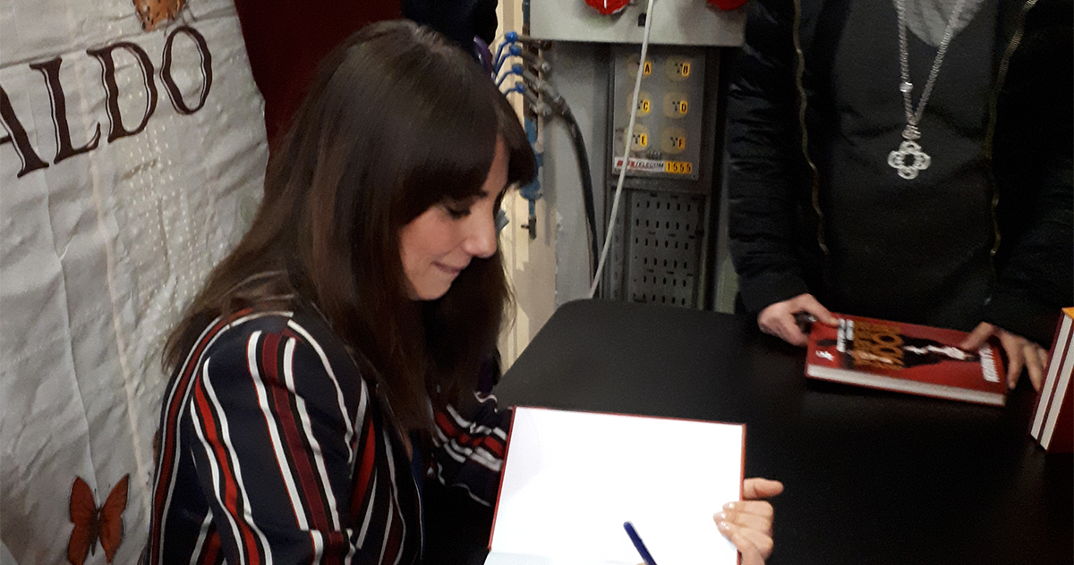 Paola Maugeri with Mondadori Electa at Tempo di Libri