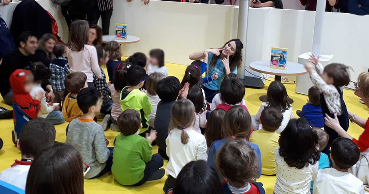 Greta with Mondadori Electa at Tempo di Libri