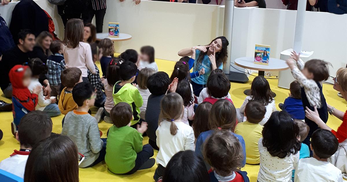 Greta con Mondadori Electa a Tempo di Libri