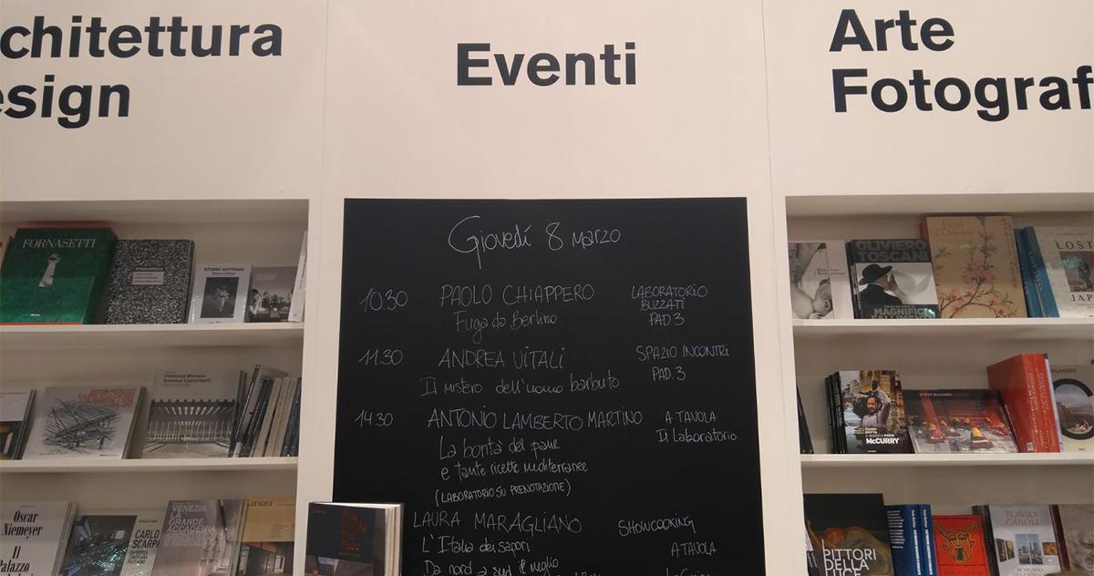 Dallo stand Mondadori Electa a Tempo di Libri<br>Gli Eventi