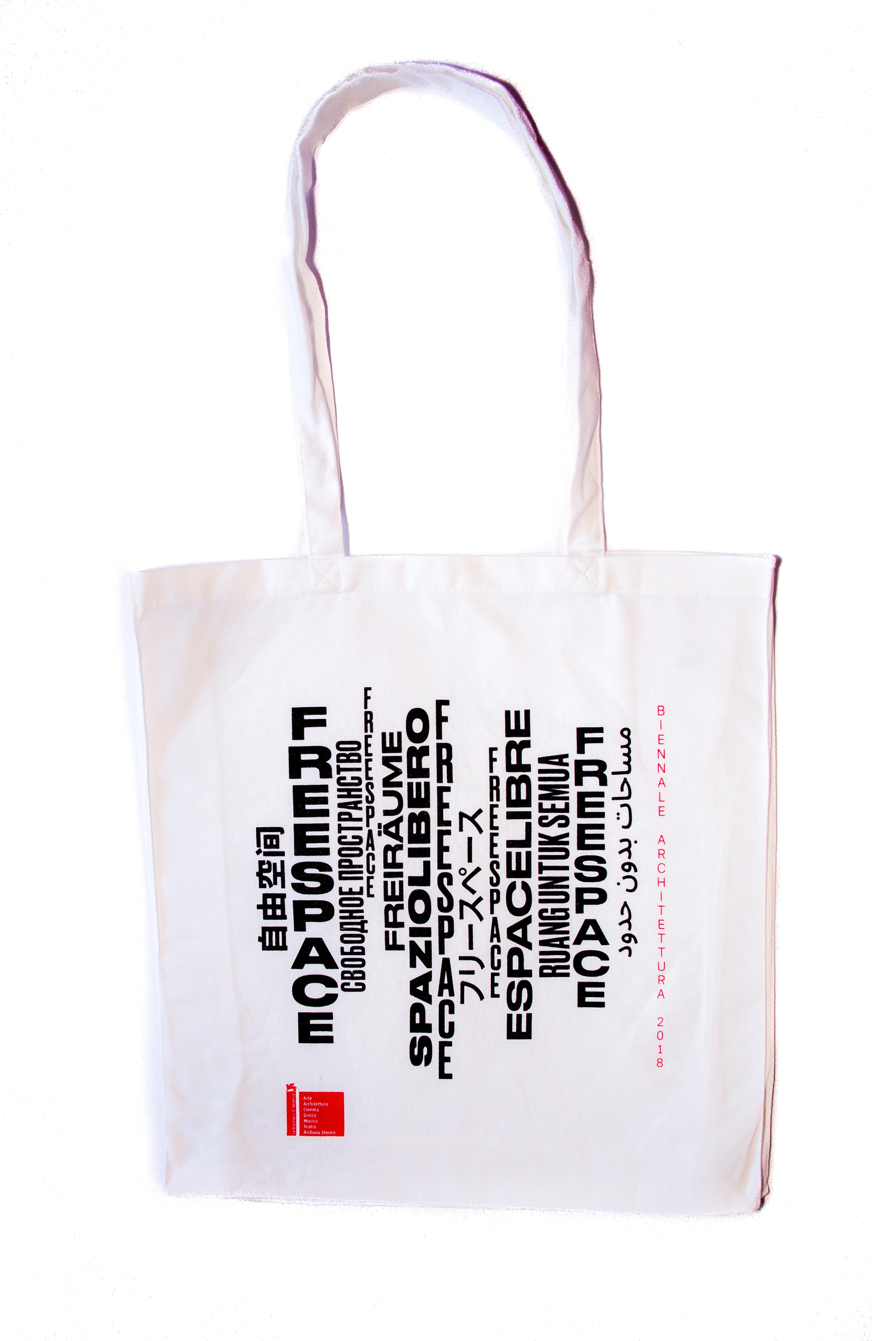"""shopper bianca """"Freespace"""" serie la Biennale di Venezia"""