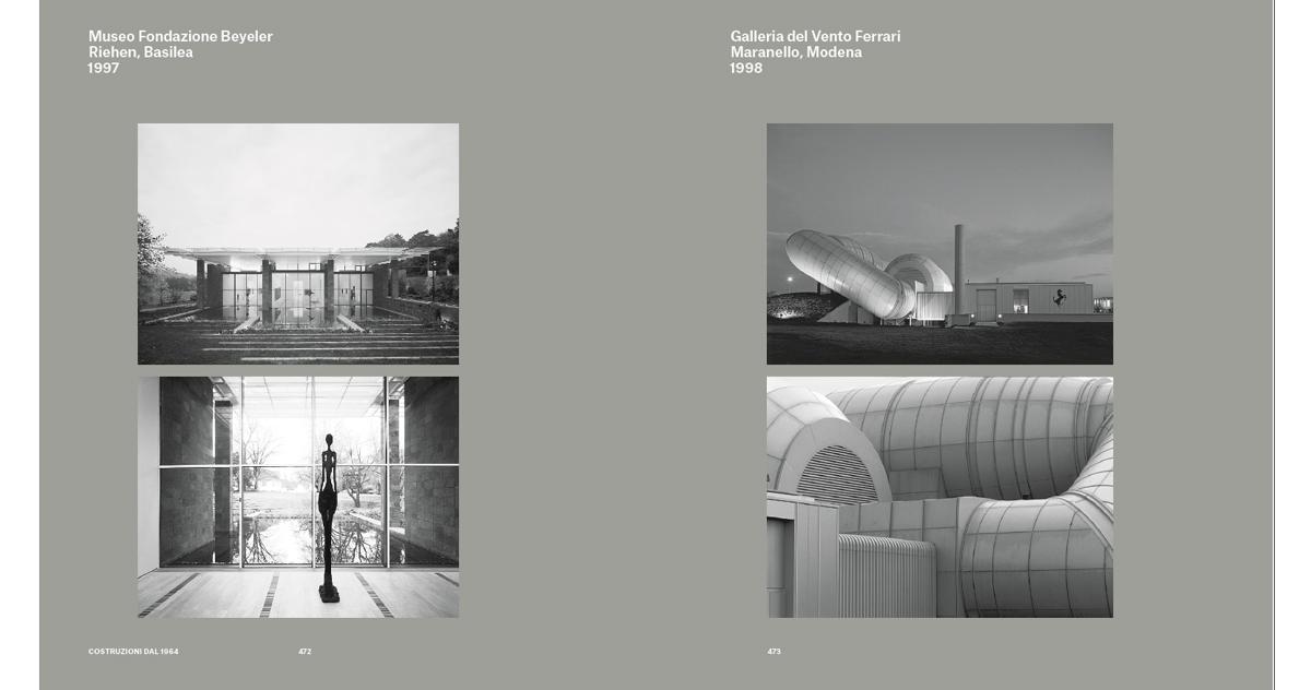 Museo Fondazione Beyeler Riehen, Basilea, 1997, Ph. Cristian Richters, Michel Denancé; Galleria del Vento Ferrari, Maranello, Modena, 1998, Ph Stefano Goldberg