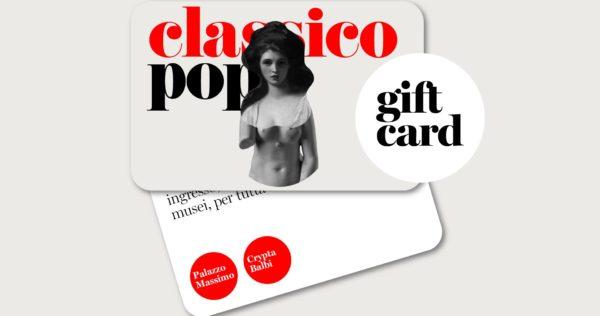 Il classico si fa pop, una nuova Gift Card per visitare la mostra a prezzo scontato e con tutta calma