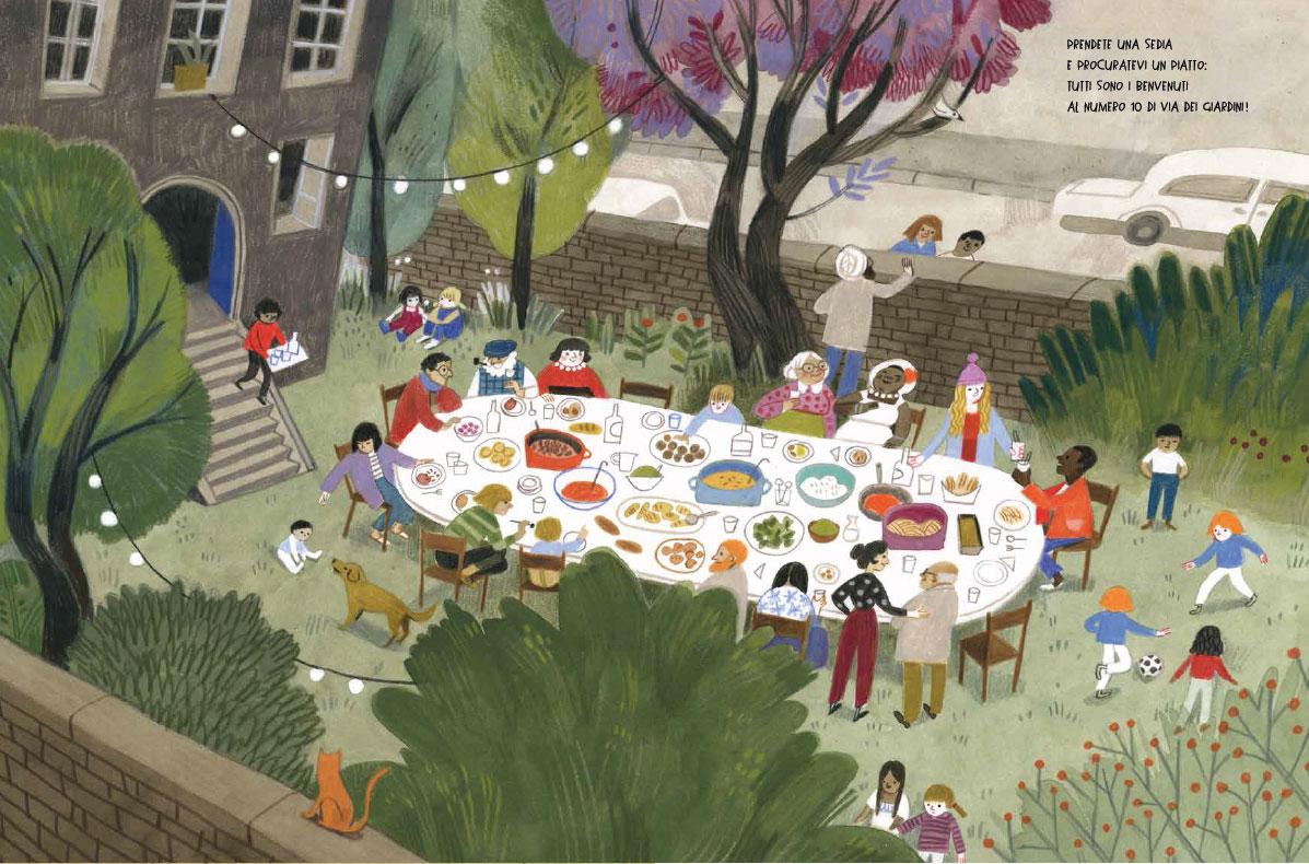 Una festa in via dei Giardini