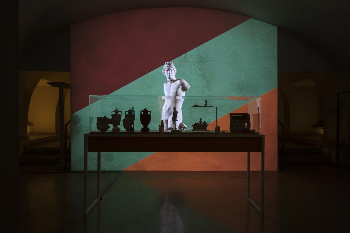 Dalla mostra <i>Il classico si fa pop</i> alla Crypta Balbi (ph Cristina Vatielli)