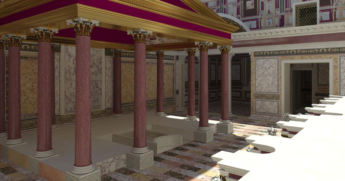Ricostruzione della prima reggia di Nerone sul Palatino