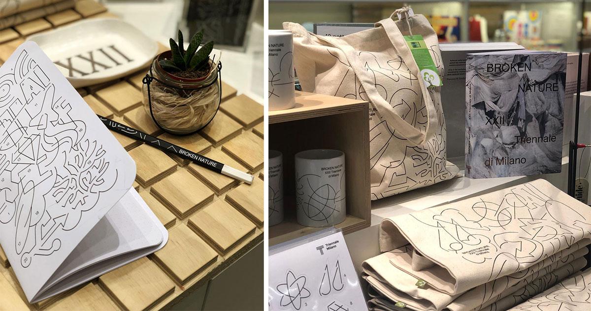 La natura è in primo piano al bookshop della Triennale, con gli oggetti ispirati alle mostre <i>Broken Nature</i> e <i>La Nazione delle Piante</i>
