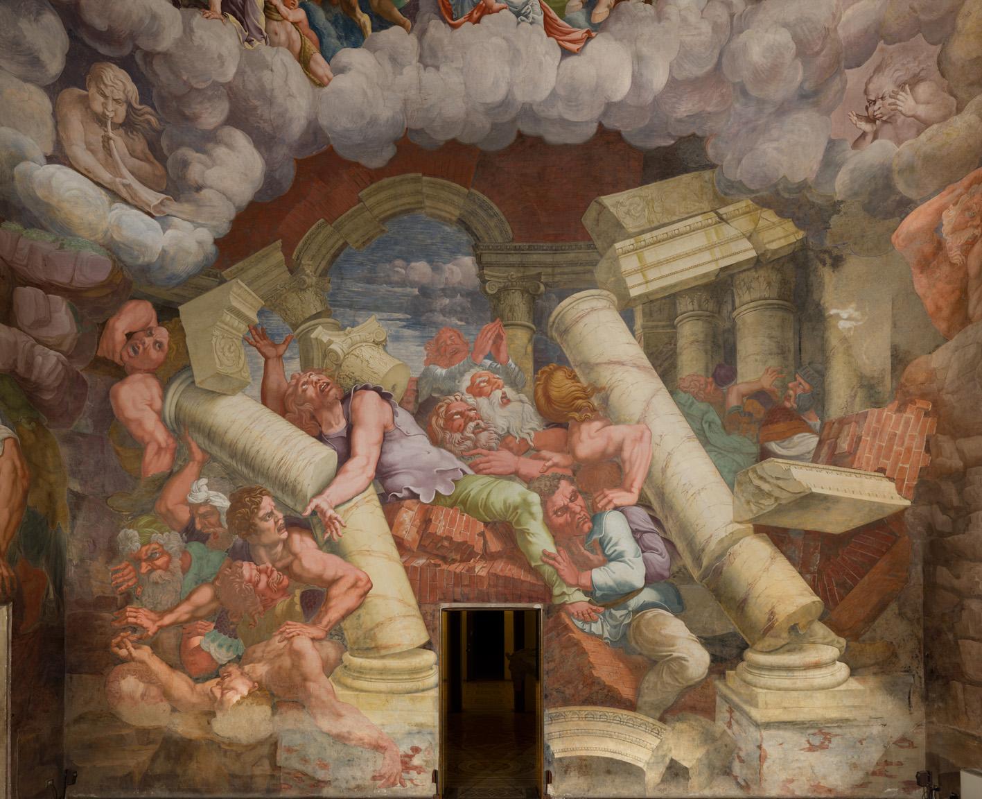Giulio Romano, una parete della Sala dei Giganti a Palazzo Te