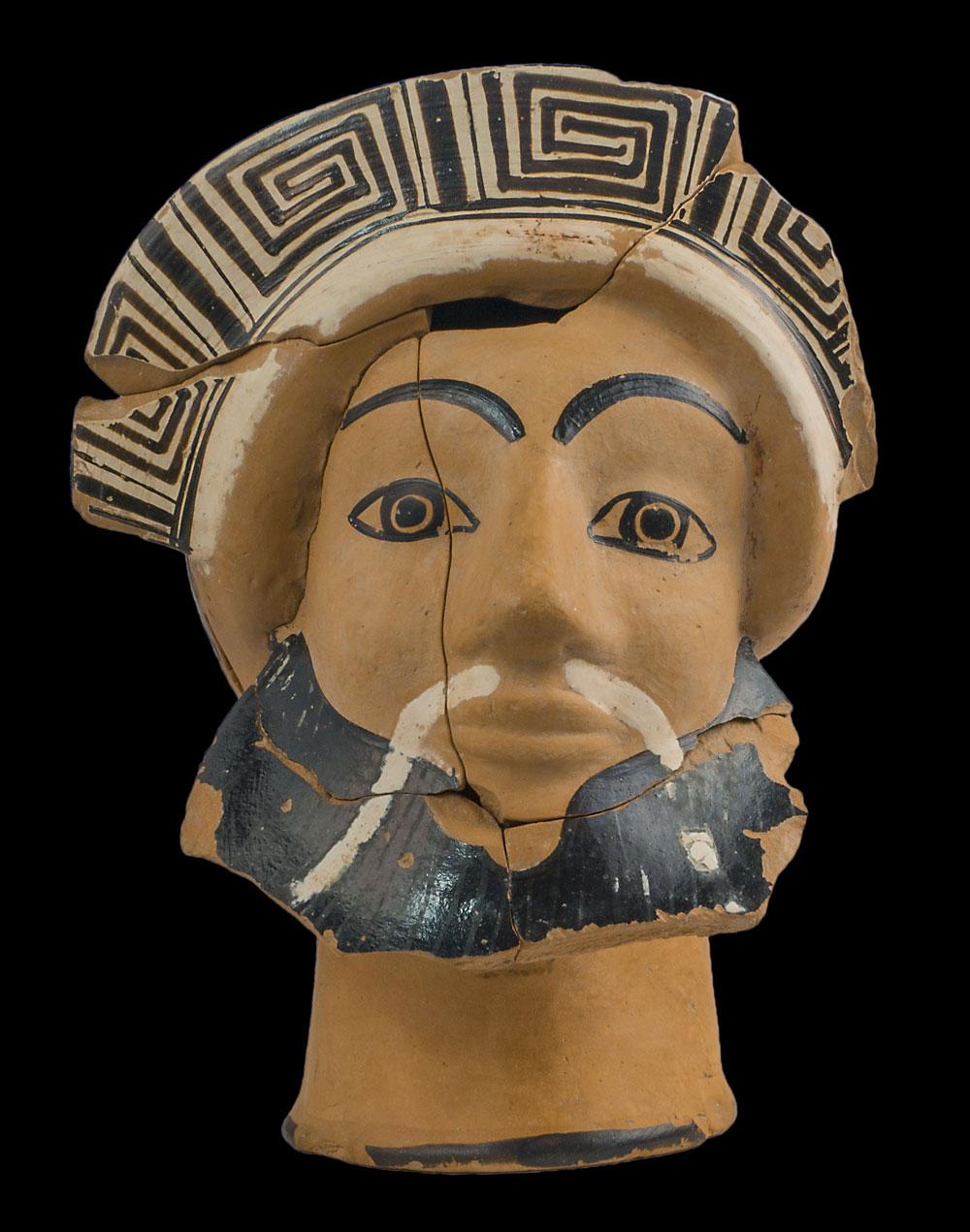 Oinochoe attica a testa di Dioniso Provenienza: Orvieto, Campo della Fiera 480 a.C. Orvieto, Museo Archeologico Nazionale Polo Museale dell'Umbria