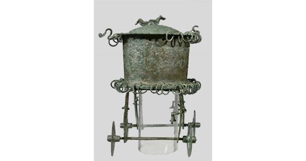 Carrello cultuale in bronzo, Fine dell'VIII - inizi del VII sec. a.C. | Napoli, Museo Archeologico Nazionale