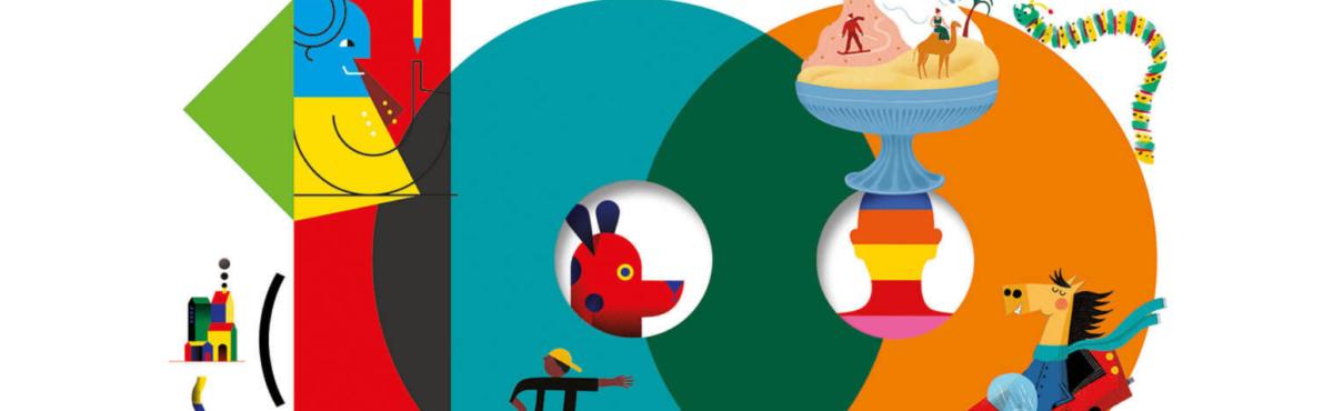 """Dettaglio tratto dalla copertina di """"Cento Gianni Rodari. Cento storie e filastrocche. Cento illustratori"""", Einaudi Ragazzi, 2019"""