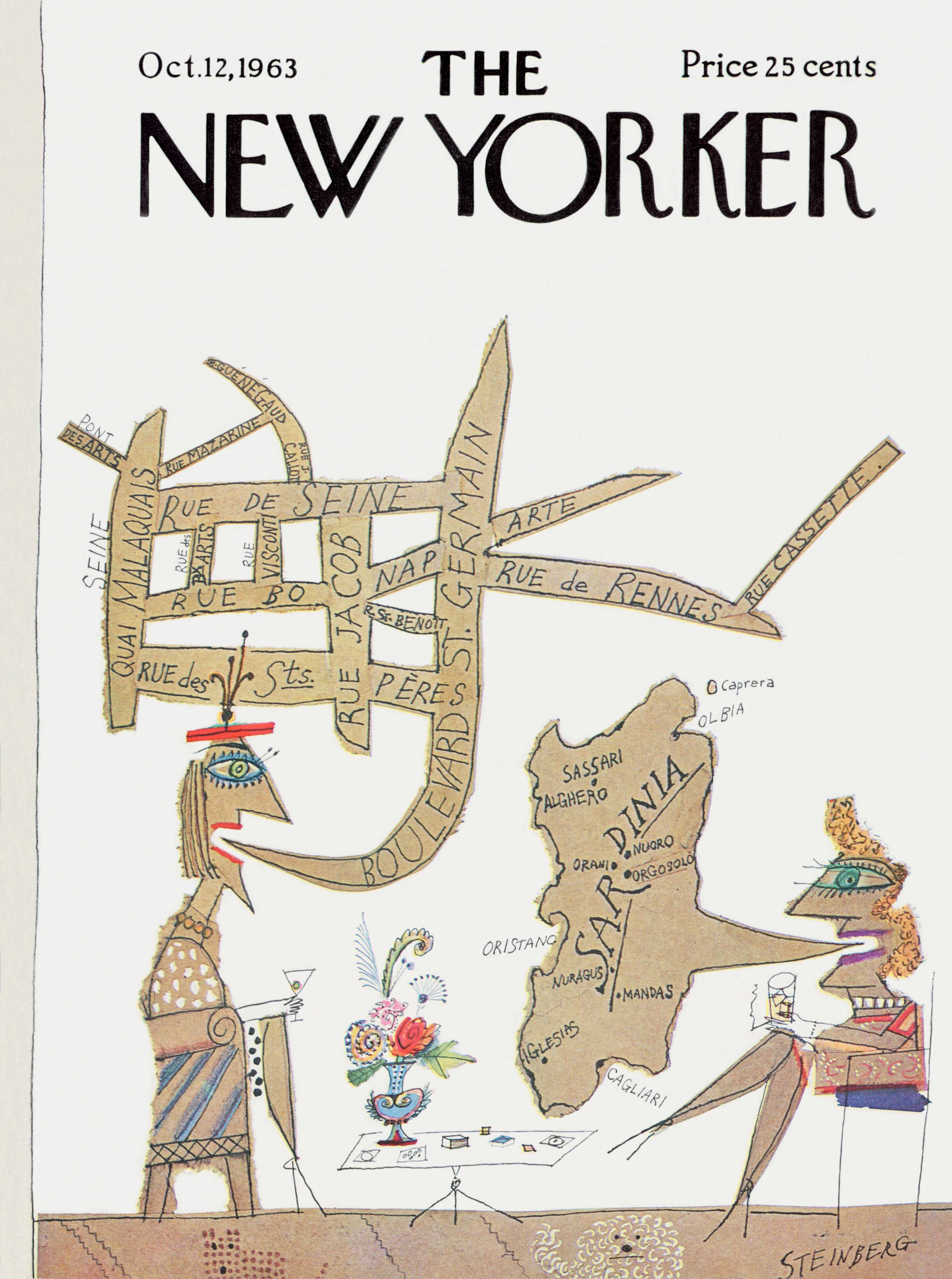 Saul Steinberg, Cover of The New Yorker, Oct 12, 1963 © The Saul Steinberg Foundation /Artists Rights Society (ARS), New York Cover reprinted with permission of The New Yorker magazine. All rights reserved.