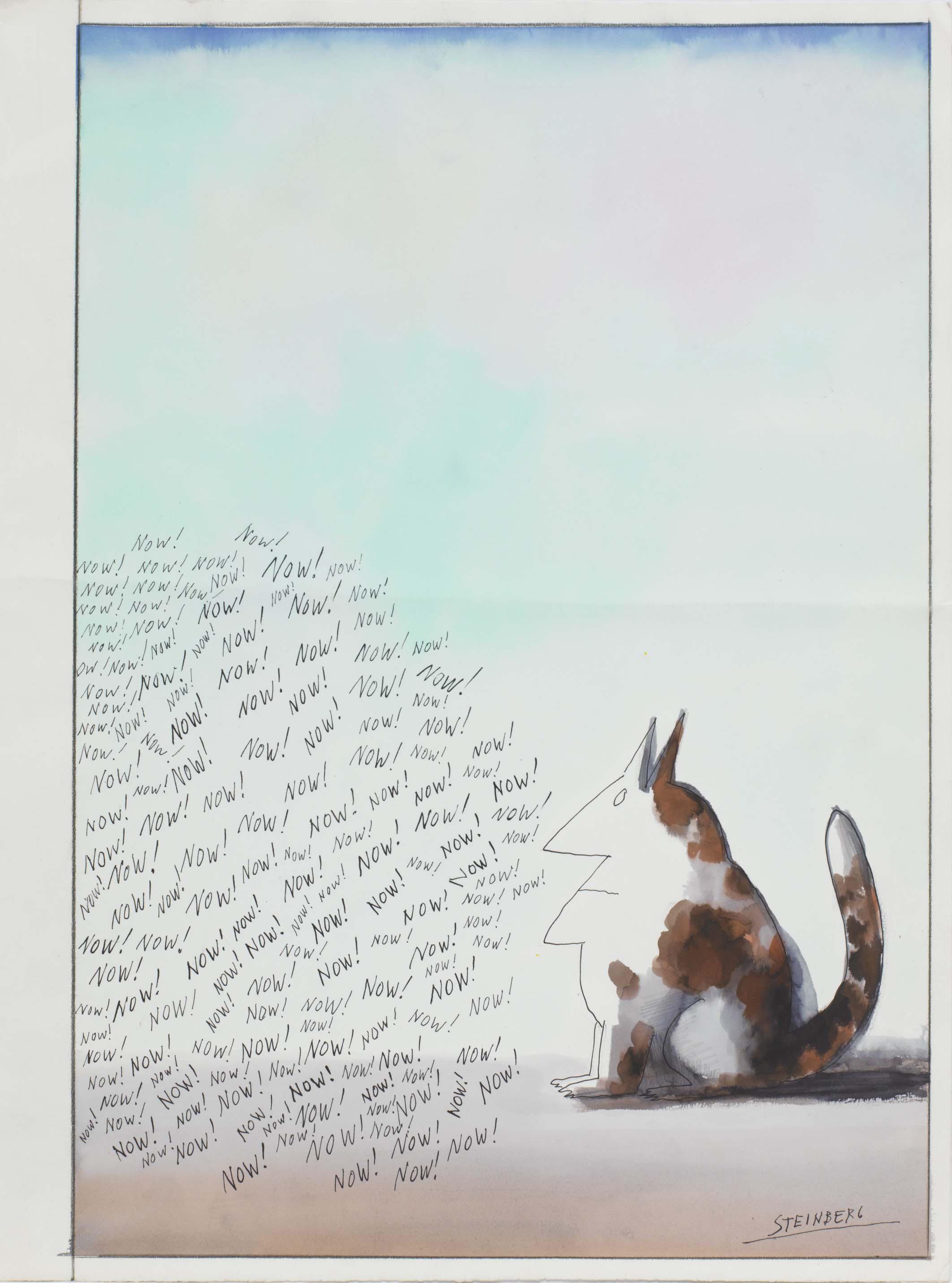 Saul Steinberg, Now!, 1960-1965 acquerello, penna e inchiostro, matita e matita colorata su carta The Saul Steinberg Foundation, New York © The Saul Steinberg Foundation/Artists Rights Society (ARS) New York